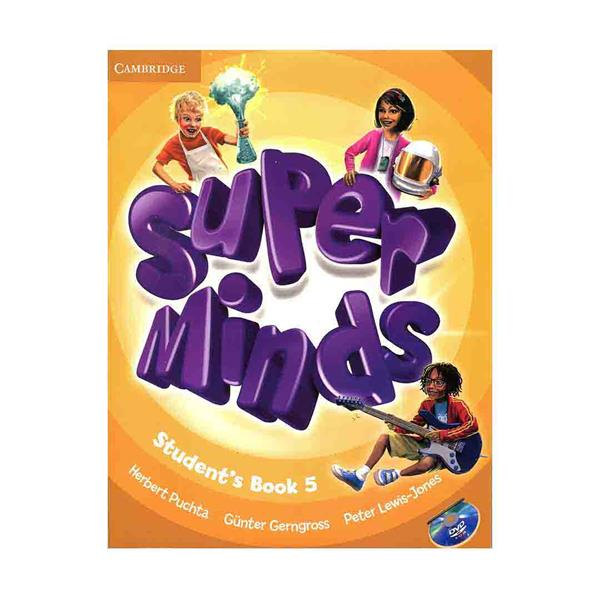 Super Minds 5 SB+WB+CD+DVD